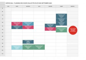 Planning cours collectifs SEPTEMBRE 2020